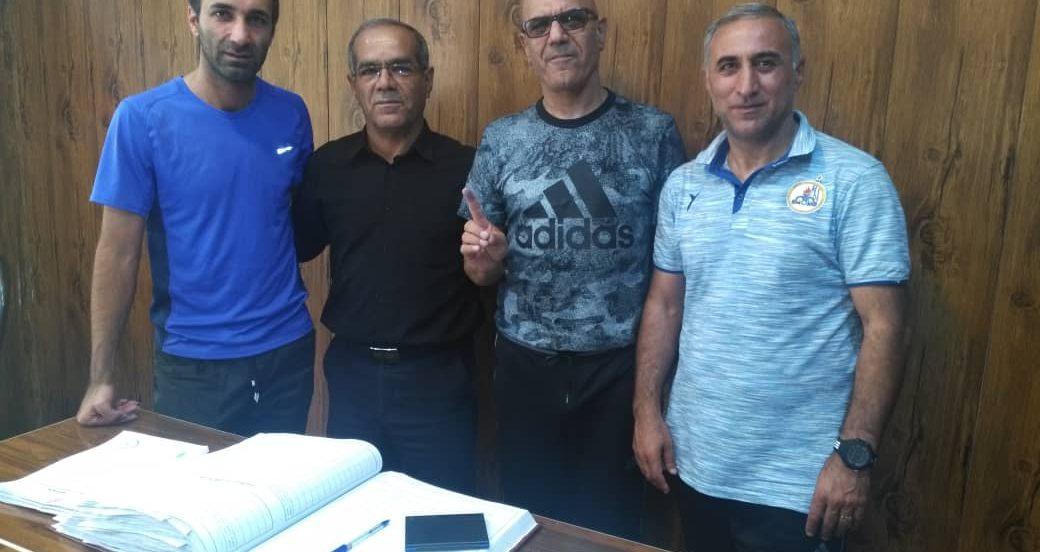 ثبت قرارداد مرزبان در هئیت فوتبال